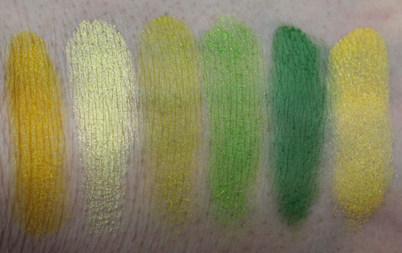 Inglot Eyeshadow Swatches 1