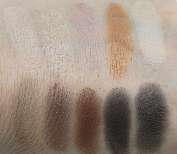 NYX Nude on Nude Palette Swatches1