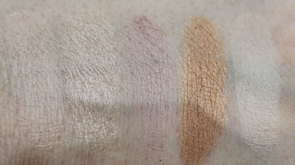 NYX Nude on Nude Palette Swatches2