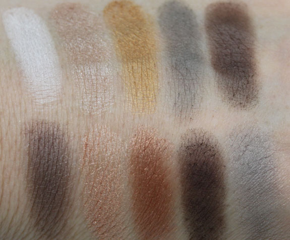 NYX Nude on Nude Palette Swatches4