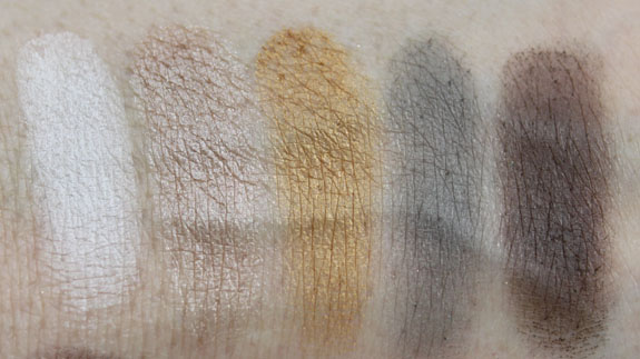 NYX Nude on Nude Palette Swatches5