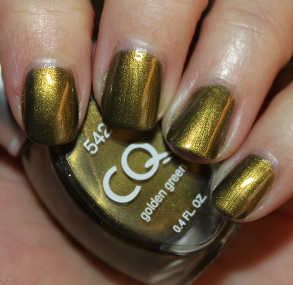 CQ Golden Green Swatch