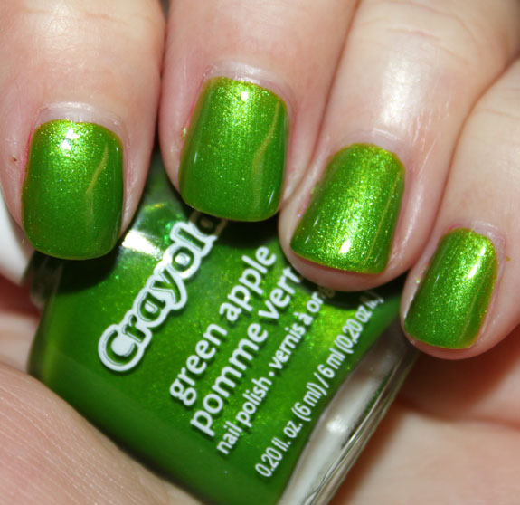Crayola Nail Polish Green Apple