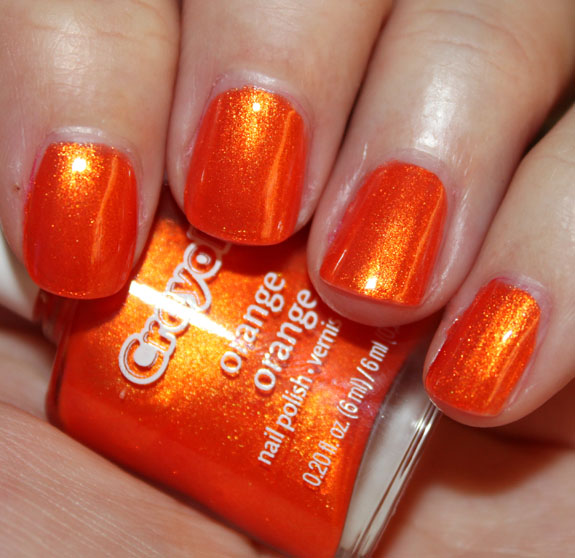 Crayola Nail Polish Orange
