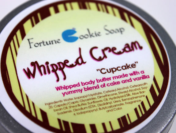 Fortune Cookie Soap Cupcake Whipped Cream 2