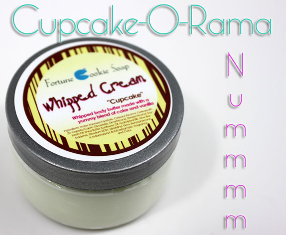Fortune Cookie Soap Cupcake Whipped Cream