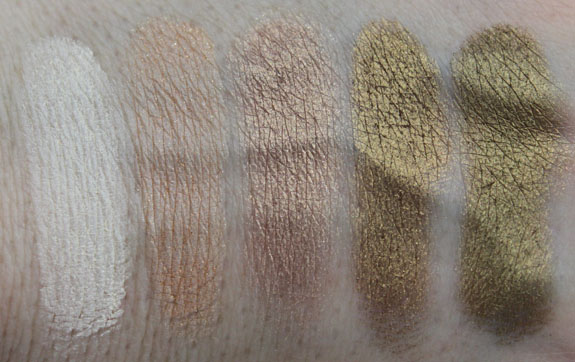 Inglot Eye Shadow Neutral Swatches 1