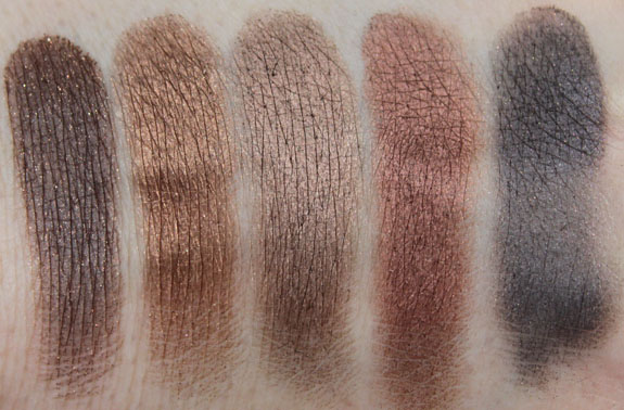 Inglot Eye Shadow Neutral Swatches 2