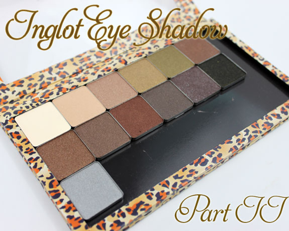 Inglot Eye Shadow Neutrals
