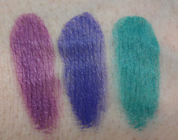 Inglot Eyeshadow Gel Matte Swatches