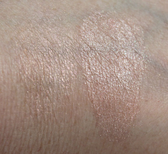 MAC Magically Cool Liquid Powder Swatches without Flash