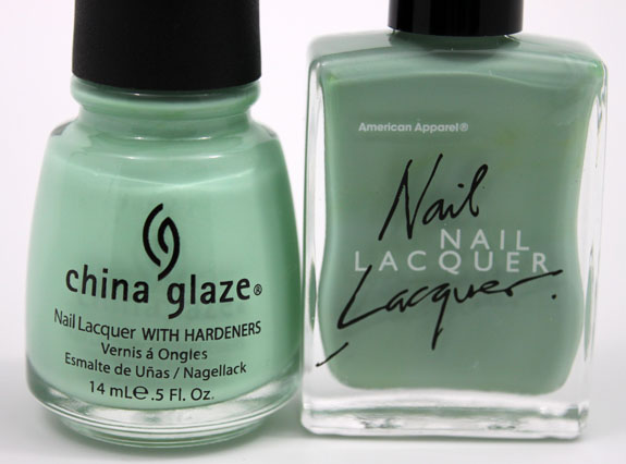 China Glaze vs American Apparel 2