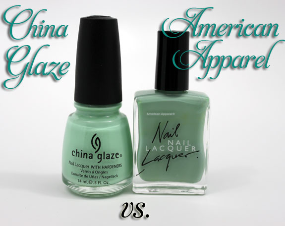 China Glaze vs American Apparel
