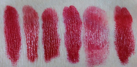 MAC Red Lipstick Swatches 1