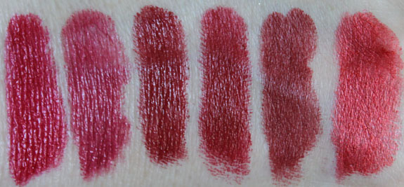 MAC Red Lipstick Swatches 2