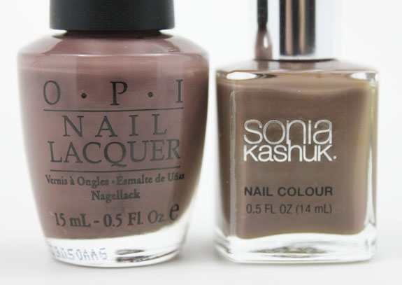 OPI Over The Taupe vs Sonia Kashuk Fatigued 3