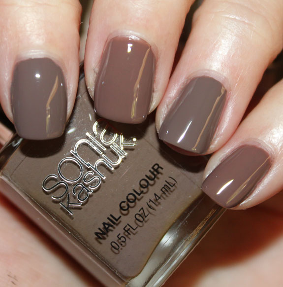 OPI Over The Taupe vs Sonia Kashuk Fatigued Swatch 1