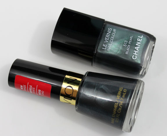 Revlon Black with Envy vs Chanel Black Pearl 2