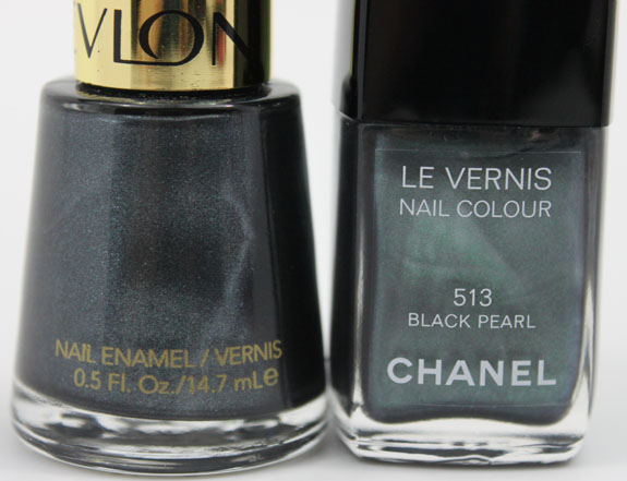 Revlon Black with Envy vs Chanel Black Pearl 3