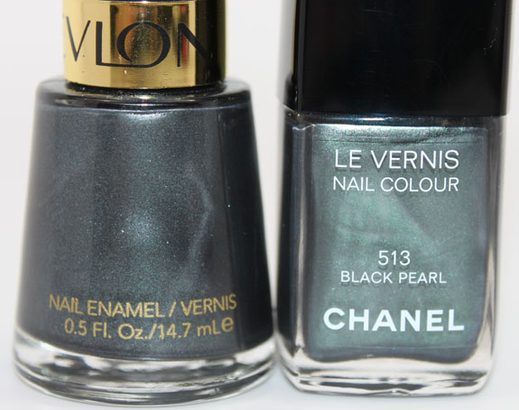 Revlon Black with Envy vs Chanel Black Pearl 4