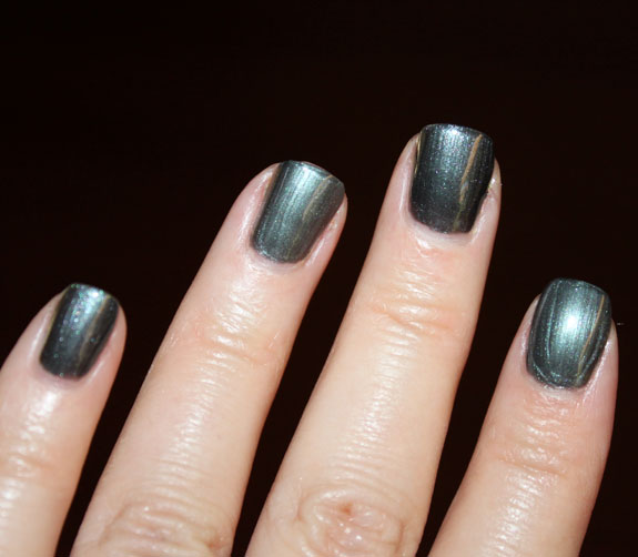 Revlon Black with Envy vs Chanel Black Pearl Swatch 2