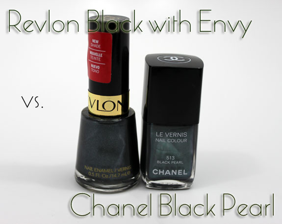 Revlon Black with Envy vs Chanel Black Pearl