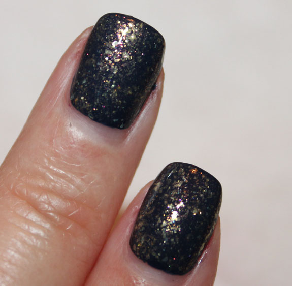 CND Midnight Sapphire and 24K Sparkle 2