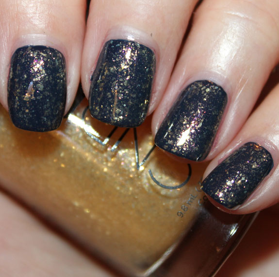 CND Midnight Sapphire and 24K Sparkle