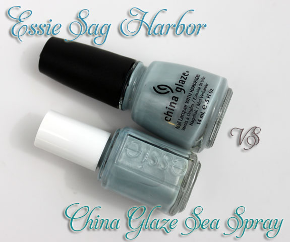 Essie Sag Harbor vs China Glaze Sea Spray 3