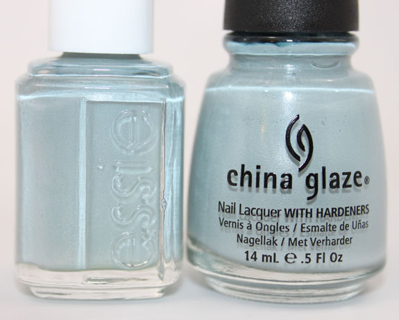 Essie Sag Harbor vs China Glaze Sea Spray 4