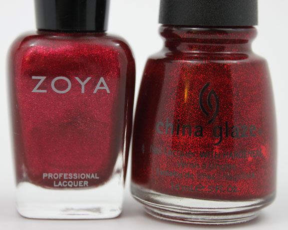Zoya Karina vs China Glaze Ruby Pumps 2