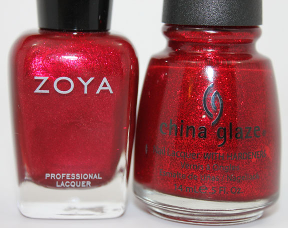 Zoya Karina vs China Glaze Ruby Pumps 3
