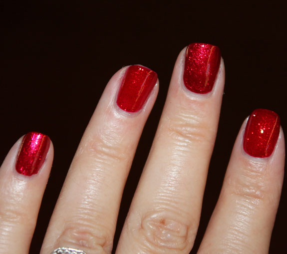 Zoya Karina vs China Glaze Ruby Pumps Swatch 2