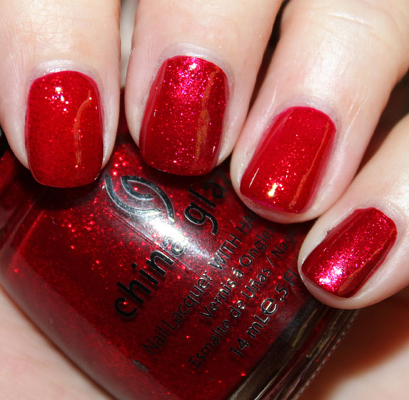 Zoya Karina vs China Glaze Ruby Pumps Swatch
