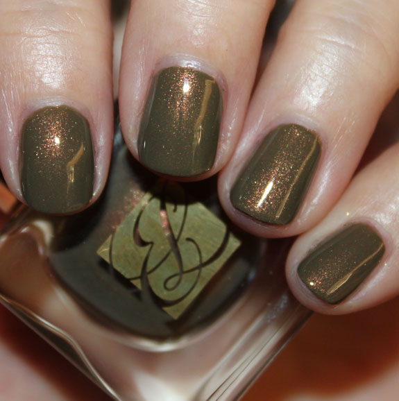 Estee Lauder Metallic Sage Nail Lacquer For Fall 2011