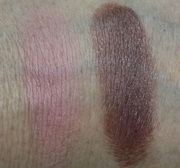 MAC Me Over MAC Basics Blush and Colour Base Swatches