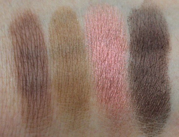 MAC Me Over MAC Basics Eye Shadow Swatches