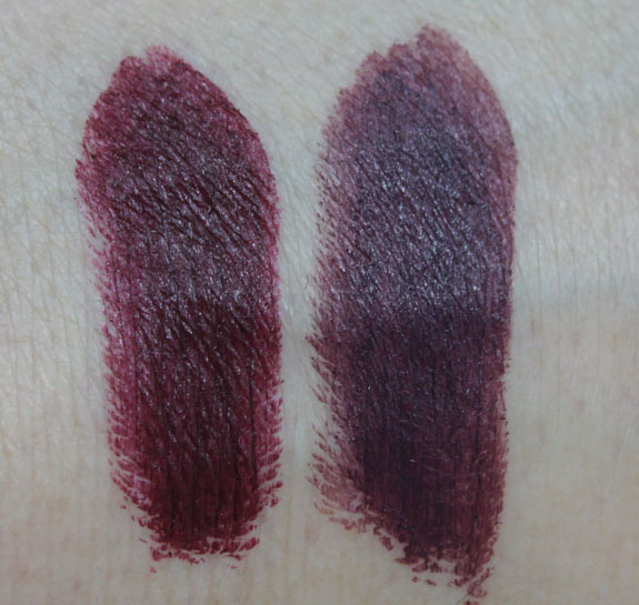 MAC Me Over New Black Lipstick Swatches