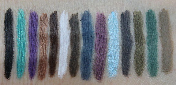 Wet n Wild Color Icon Brow and Eye Liner Swatches