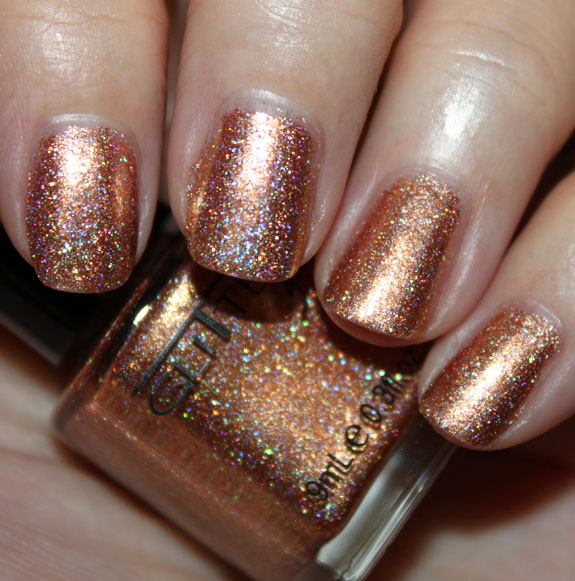 Glitter Gal Bronze Glitter Gal 3D Holo & Sparkle Nail Polish Swatches, Photos & Review