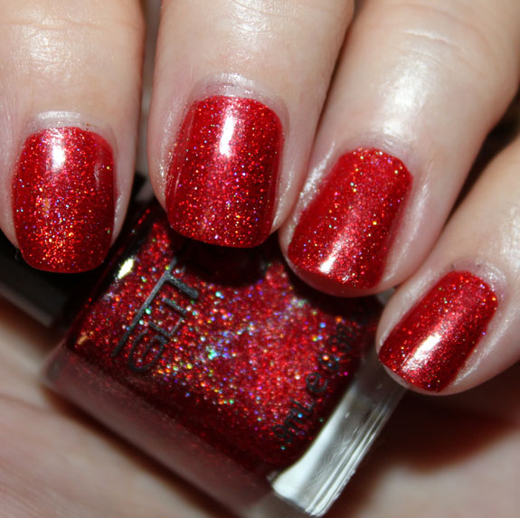 Glitter Gal Red Glitter Gal 3D Holo & Sparkle Nail Polish Swatches, Photos & Review