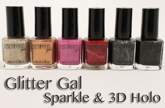Glitter Gal Sparkle 3D Holo Glitter Gal 3D Holo & Sparkle Nail Polish Swatches, Photos & Review