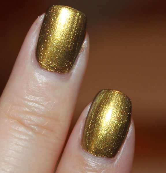 MAC Immortal Gold Nail Lacquer Swatch 2