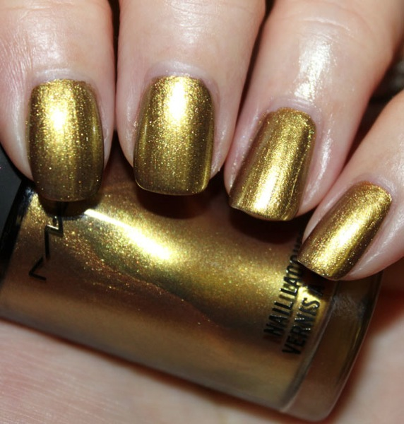 MAC Immortal Gold Nail Lacquer Swatch