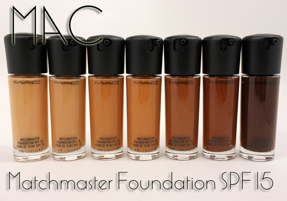 Mac matchmaster foundation spf 15 for fall 2011 swatches review mac matchmaster foundation publicscrutiny Choice Image