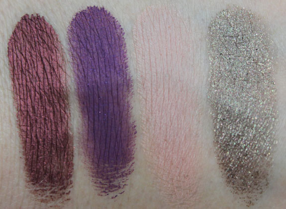 MAC Posh Paradise Paint Pot Swatches
