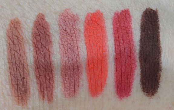 MAC Pro Longwear Lip Pencil Swatches
