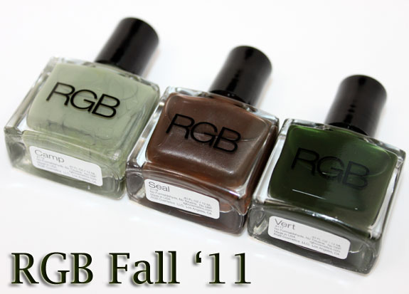 RGB Fall 2011 RGB Fall 2011 Nail Polish Collection Swatches & Review
