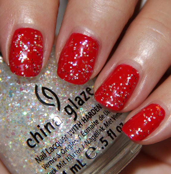 China Glaze Poinsettia with Snow Globe