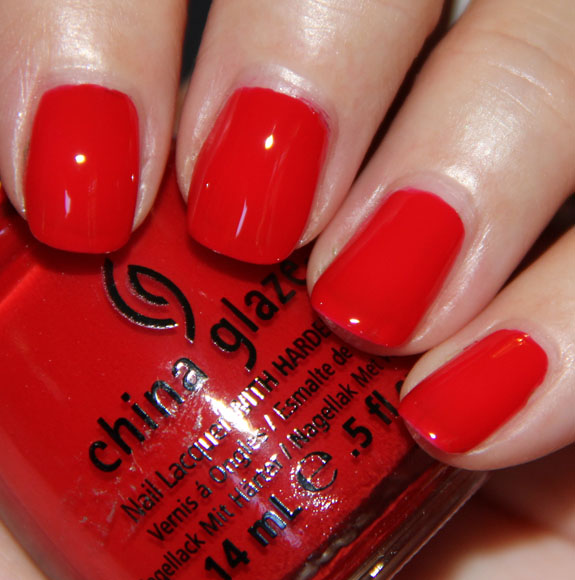 China Glaze Poinsettia China Glaze Let It Snow for Holiday 2011 Swatches, Photos & Review